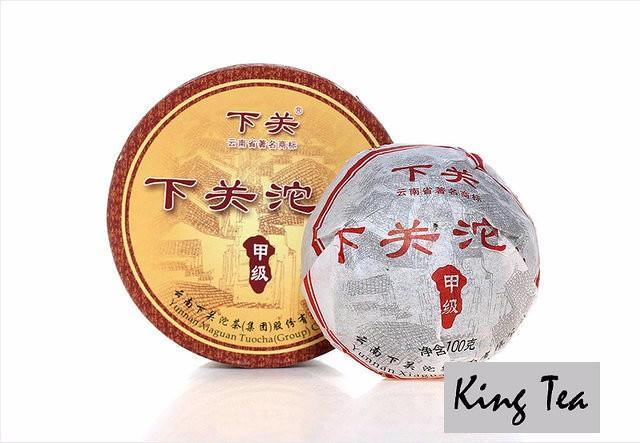Free Shipping 2012 XiaGuan JiaJi Boxed Tuo 100g China YunNan KunMing Chinese Puer Puerh Raw Tea Sheng Cha Weight Loss Slim