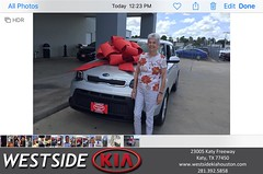 Happy Anniversary to Shirley E on your #Kia #Soul from Luis Espinoza at Westside Kia!