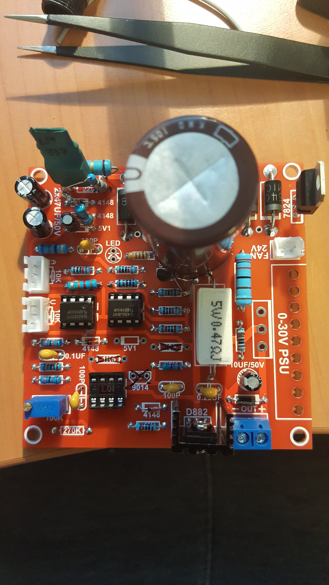 Pauls Diy Electronics Blog Tuning A 030v Dc 03a Psu Kit Power Supply Regulator 38v Electronic Projects Circuits