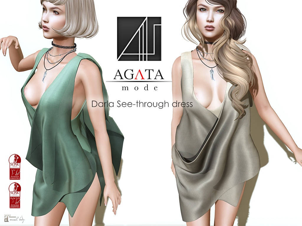 Darla See-through dress @ Shiny Shabby - SecondLifeHub.com