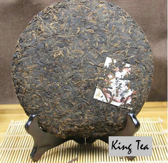 Free Shipping 2012 Lao Man'E DingWuCha Cake 357g China YunNan MengHai Chinese Puer Puerh Ripe Tea Cooked Shou Cha Premium Slim