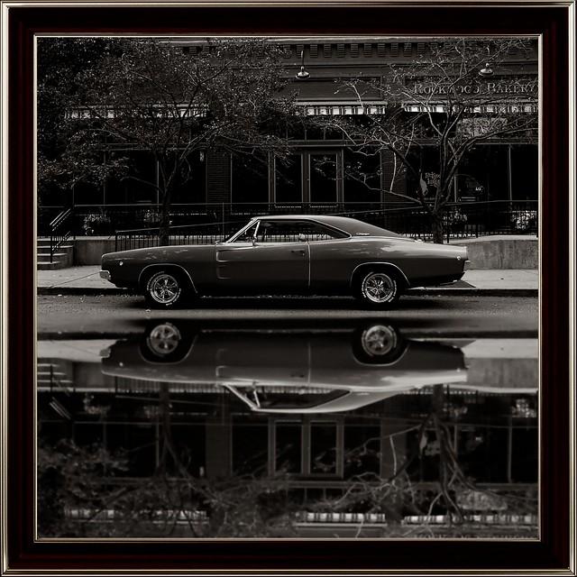 1968 Dodge Charger R/T - Rockwood Bakery - Antique Version (Full Reflection)