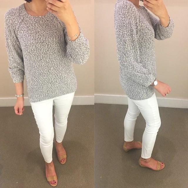 LOFT Marled Sweatshirt Sweater, size XXSP