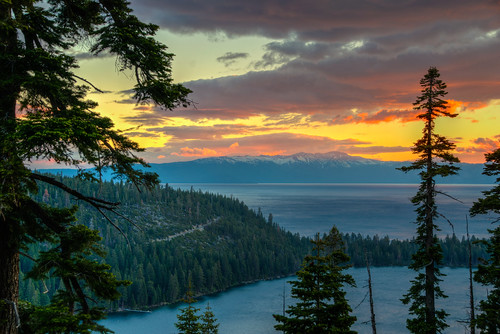 california sunrise lake tahoe horseshoe bay landscape water laketahoe horseshoebay laketahoecalifornia mountain west western