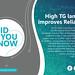 High TG laminate improves reliability?
