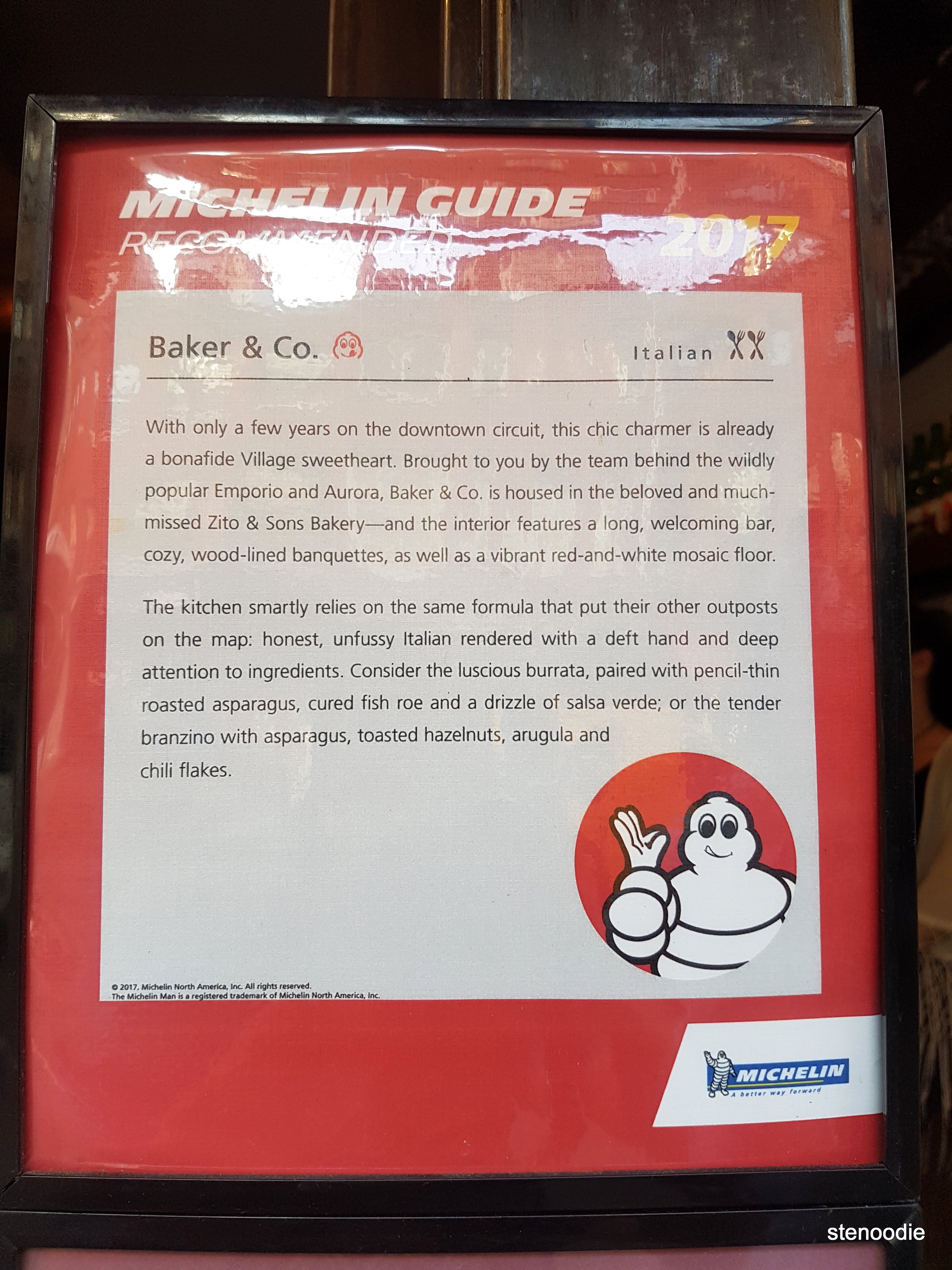 Baker & Co. Michelin Guide