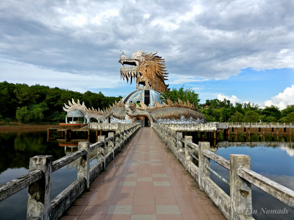 Hue abandoned waterpark dragon