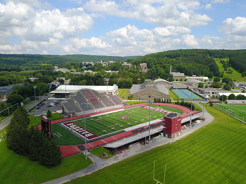 A shot of Colgate from athletics