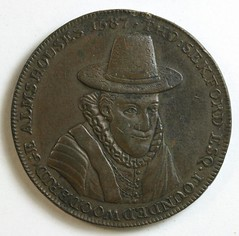 1796 Woodbrodge Alms House Penny Token obverse