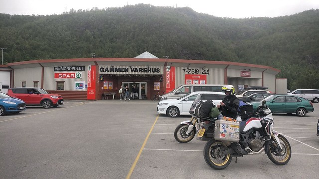 Norway spar and alcohol shop