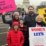 Cedar Lane Family at Women's March, 1.21.17