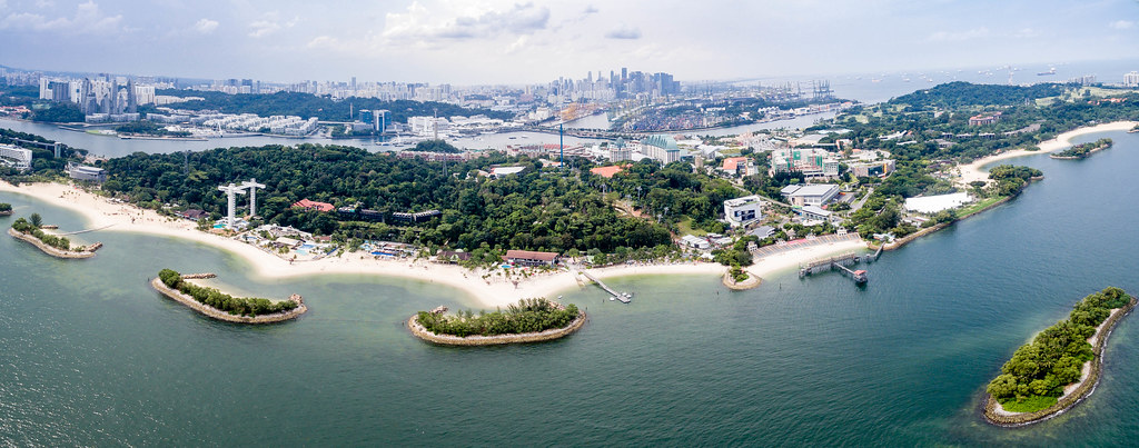 Panorama of Sentosa Island, Singapore accommodation