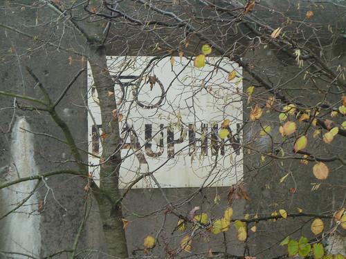 Reklame am Bunker