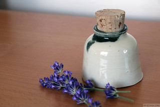 Pottery made in Canada; lavenders grown in our garden (Toronto)