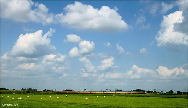 Landscape and Train