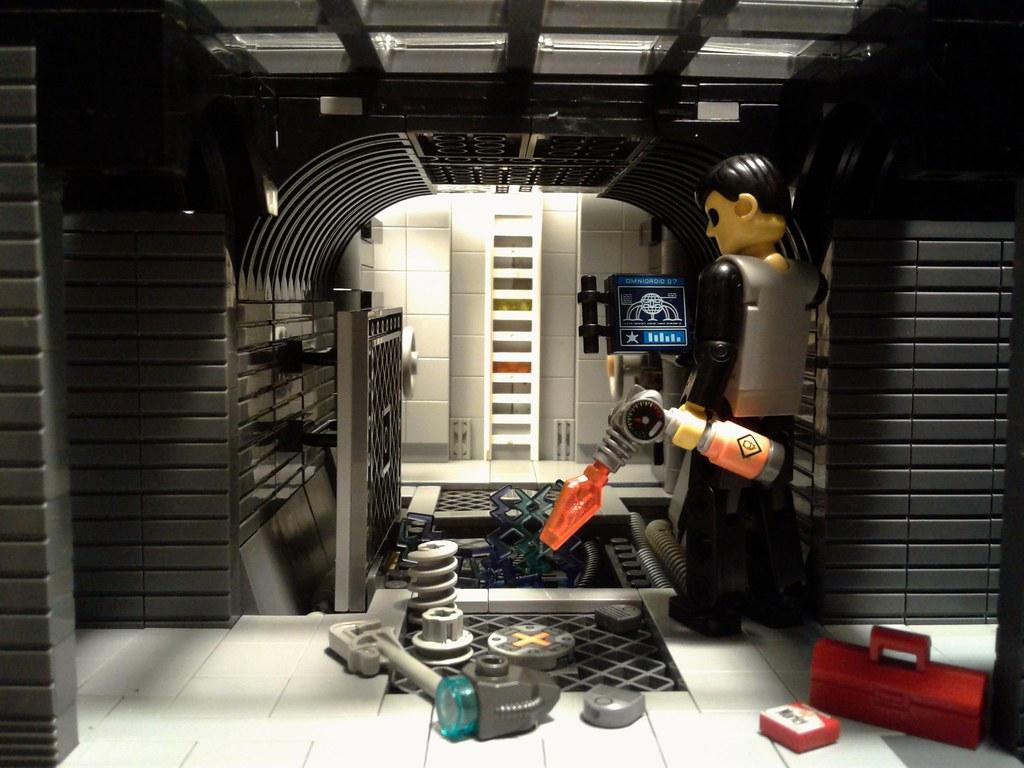 """Deepspace Repairs"" (custom built Lego model)"