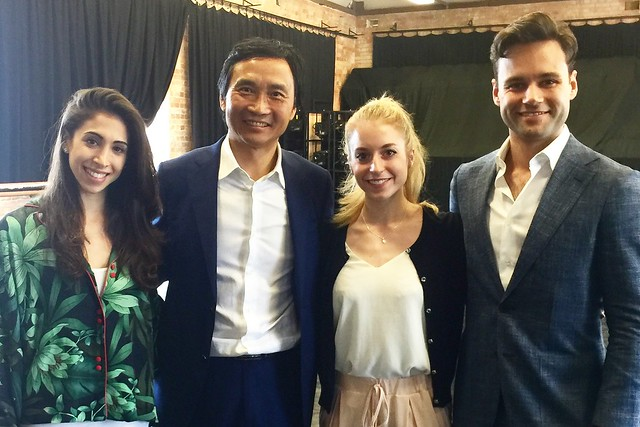 Yasmine Naghdi, Li Cunxin, Meaghan Grace Hinkis and Alexander Campbell at Queensland Ballet © Meaghan Grace Hinkis