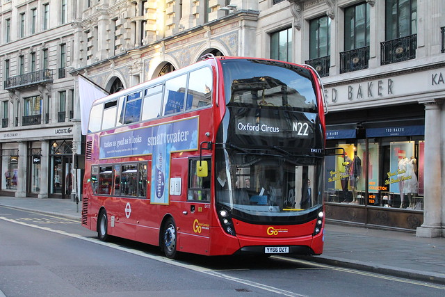 London General EH111 on Route N22, Oxford Circus