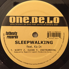 ONE. BE. LO:SLEEPWALKING(LABEL SIDE-A)