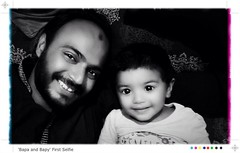 'Bapa & Bapy'  #FirstSelfie #Princess #Baby #Love #Selfie #Pakistani #Dania #MBAKhan #blackandwhitephoto #monochrome #Bed #InstaMobile #InstaBaby #InstaSelfie #InstaPakistan #igers #igerspakistan