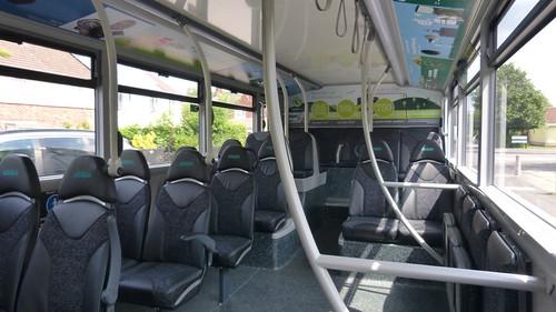 'Nottingham City Transport' Scania N280UD / Alexander Dennis Enviro 400CBG City  on 'Dennis Basford's railsroadsrunways.blogspot.co.uk  Downstairs looking back.