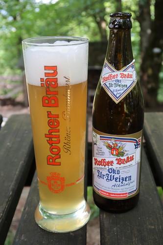 Alkoholfreies Öko-Ur-Weizen von Rother Bräu (an der Milseburghütte)