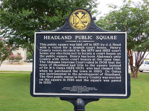 Headland Public Square Marker (HCC) Headland AL