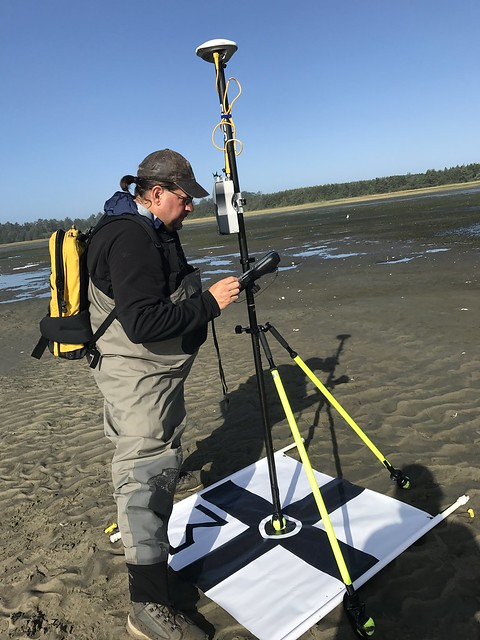 Tony and I setting GCPs (ground control points) for the UAV