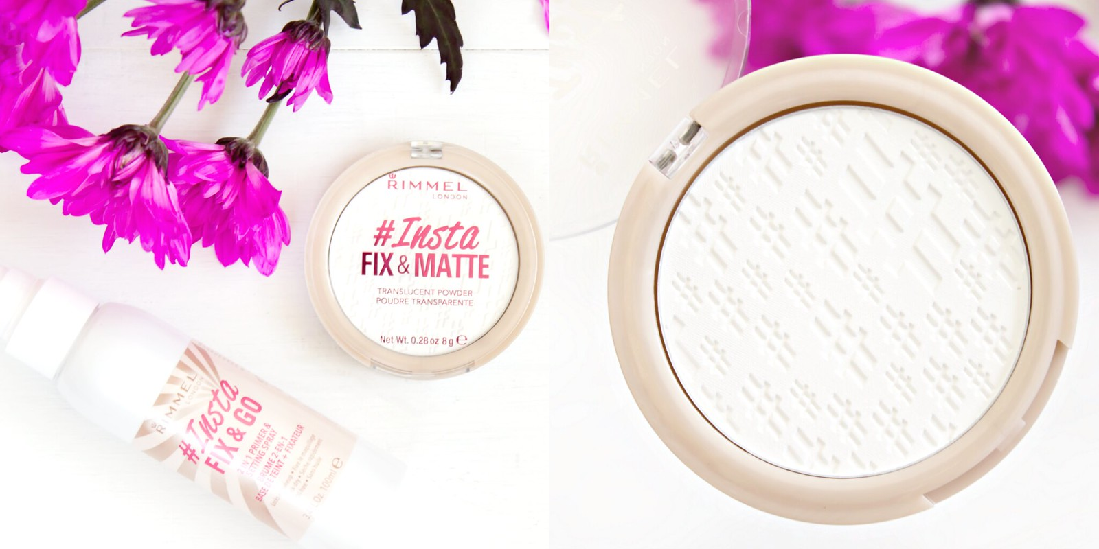 Insta Fix and Matte Setting Powder and Setting Spray