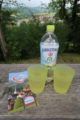 Trinkpause auf dem Poppenhausener Liebesweg