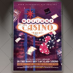 Casino Night - Premium Flyer PSD Template