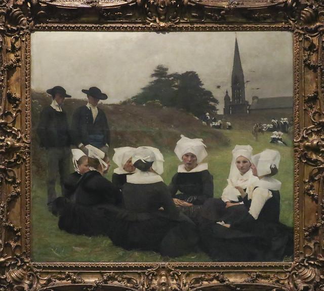 Les Bretonnes au Pardon, Pascal-Adolphe-Jean Dagnan-Bouveret, France 1887