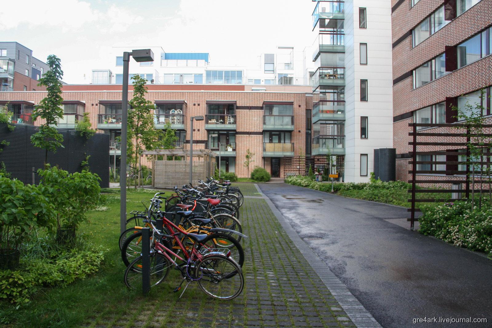 Велопаркинги в каждый дом! у них там