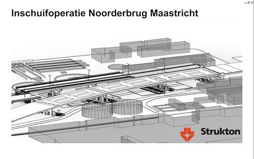 Visualisatie inschuifoperatie Noorderbrug - Strukton
