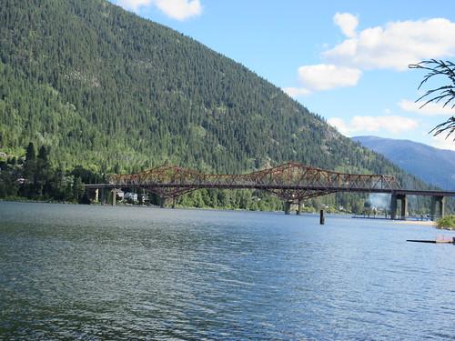 nelson bc british columbia canada waterfront lake bridge
