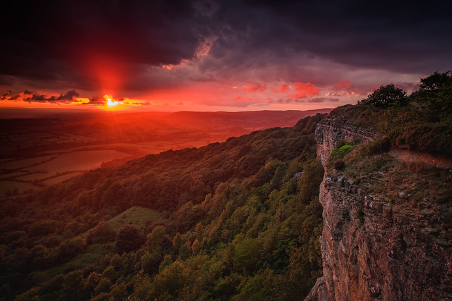 Sutton Bank stormy sunset, Fujifilm X-T1, XF14mmF2.8 R
