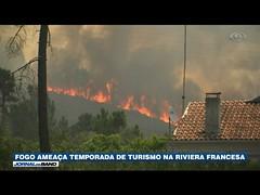 Fogo ameaça temporada de turismo na Riviera Francesa