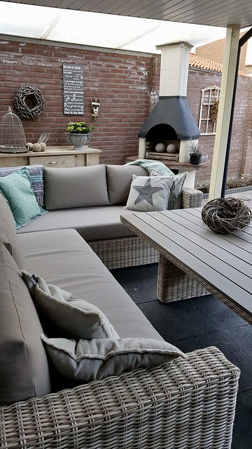 Loungebank overkapping landelijke stijl