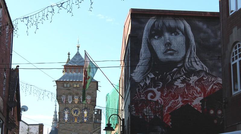 Laneway art, Womanby Street, Cardiff