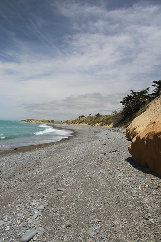 normanby beach timaru south canterbury new zealand scenic landscape sea ocean water