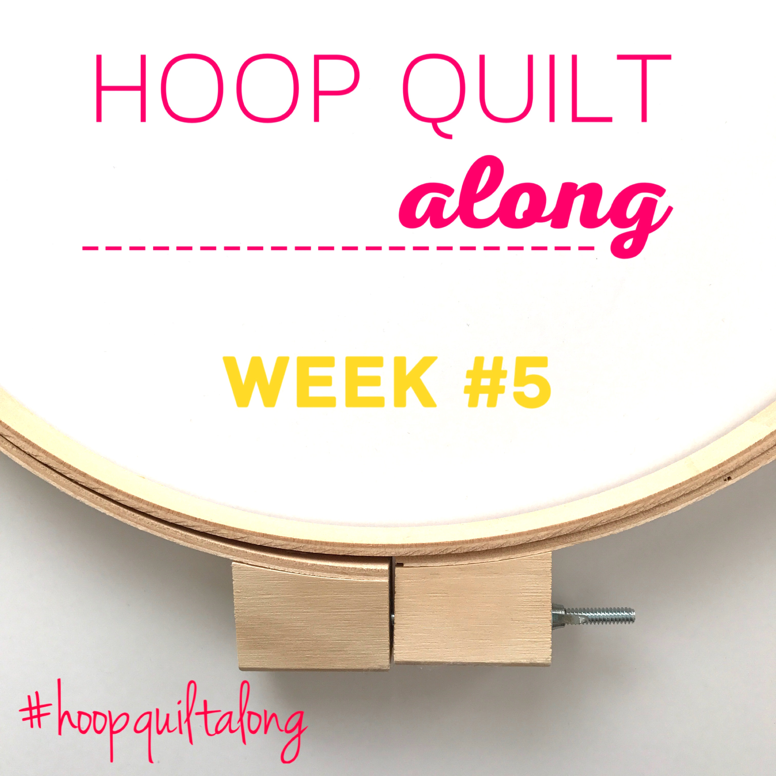 Hoop Quilt Along Week 5 hosted by AnneMarie Chany