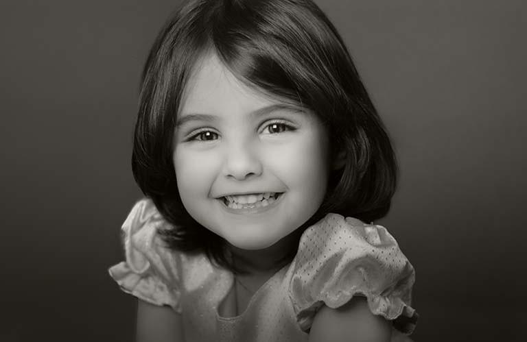 小女孩的微笑