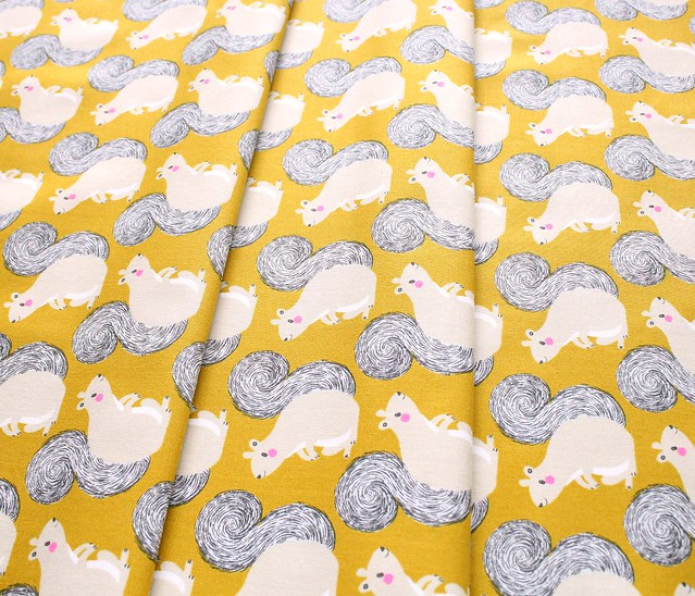 COTTON+STEEL Magic Forest 2056-01 Squirrels Yellow