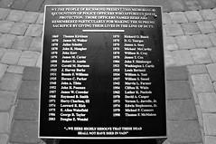 Richmond Police Memorial: Fallen Heroes Roster