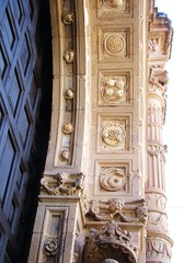 Ex-Convent of Acolman - Carved Fruit in Entrance Arch