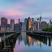 Brooklyn Bridge Park at sunrise by lukas schlagenhauf