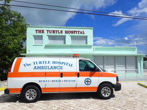 Hospital with Ambulance