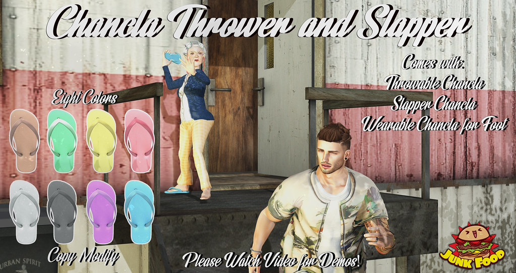 Junk Food - Chanclas (Thrower and Slapper) - SecondLifeHub.com