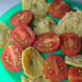 Vine Tomatoes with Crispy Pork Cracking Circles