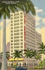 Miami Colonial Hotel Vintage Postcard
